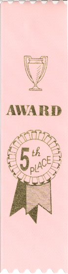 PINK 5TH PLACE RIBBON