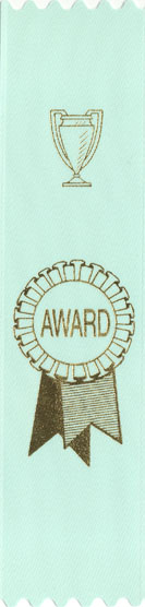 PARROT BLUE AWARD RIBBON