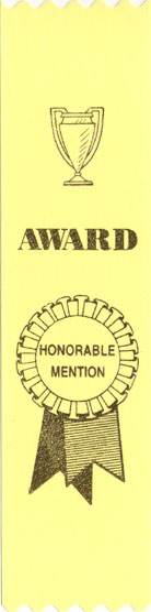 YELLOW HONORABLE MENTION RIBBON